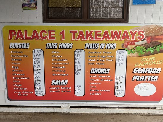 Palace Takeaways: Menu