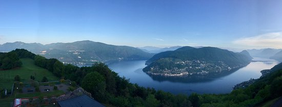 Serpiano, Szwajcaria: Ausblick vom Hotelzimmer