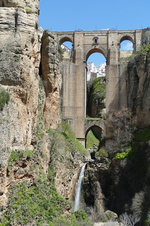 Hotel Ronda: New Bridge from Bottom of the Gorge