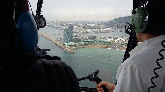360º Barcelona SkyWalk: Old Town Walking, Helicopter flight & Sailing: Heli