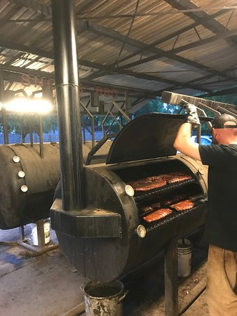 Lexington, TX: Ribs are about ready