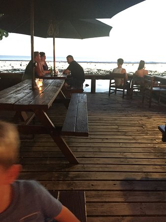 Crusoes Restaurant and Bar: View from deck at Wilson's