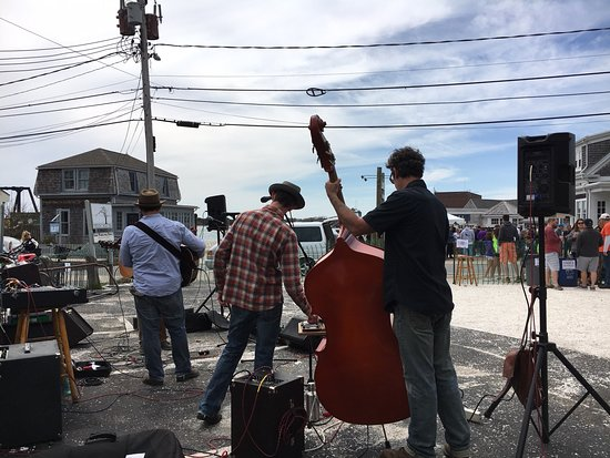 Brothers Rye band played Cinco de Mayo in Woods Hole spring 2018