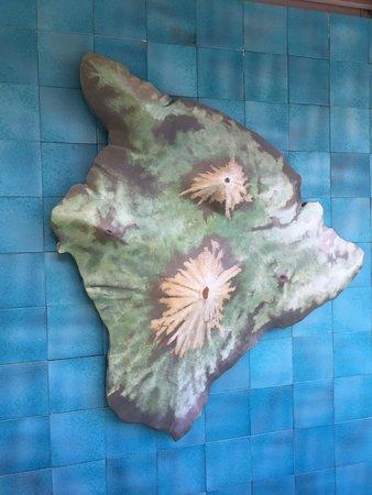 Honaunau, Hawái: Map of Hawaii with volcanos