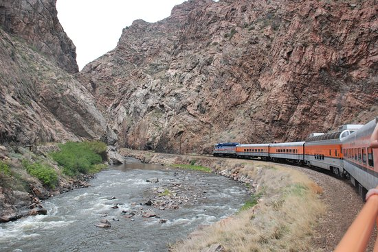 Royal Gorge Route Railroad: view from open car