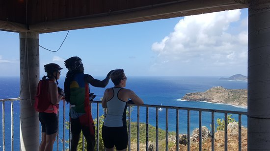 Cycling Tours Antigua: taking in the view