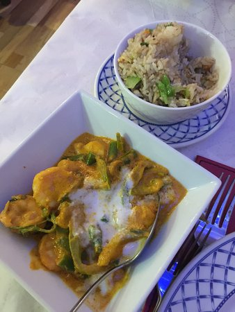 George's: Chicken Green Curry with steamed Jasmine Rice