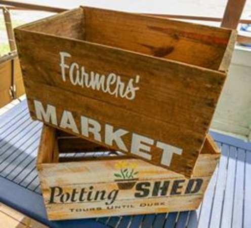 Stenciled Vintage Farm Boxes Picture Of Rescue Recycle Reuse
