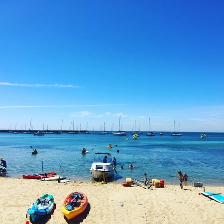 Mornington, Australia: Our equipment is on the beach ready for your day on the Bay!