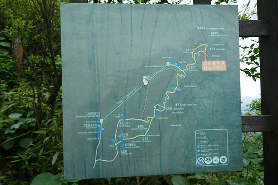Bajiaozhai National Forest Park: trail map from the other part of the park (where the cables starts)