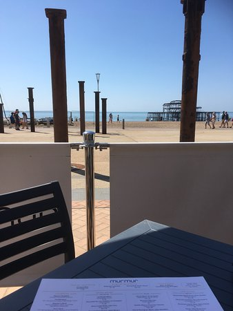Murmur Restaurant: Excellent sea views at Murmur on a sunny Bank Holiday