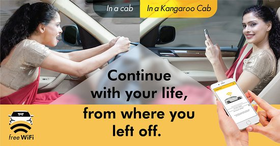 Free Wifi on all Kangaroo Cabs