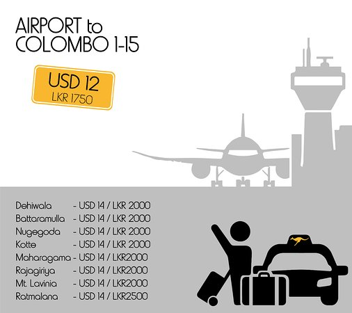 Kangaroo Cabs: Our rates to other parts of Colombo