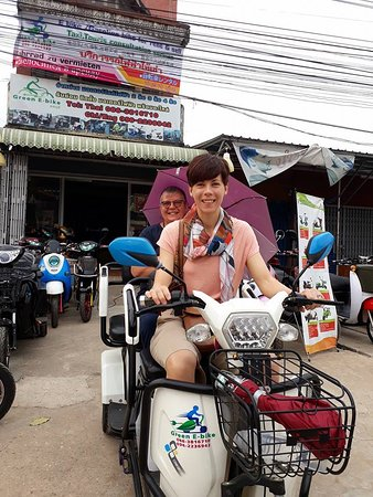 Sukhothai Province, Ταϊλάνδη: Green e bike sukhothai-three wheels electric bike