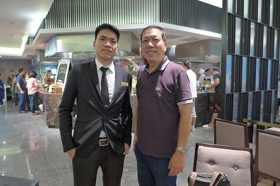 With restaurant supervisor Edu@I'M Hotel - Picture of I'M Hotel, Makati -  Tripadvisor