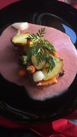 Hotel - Restaurant du Chateau: Côte de cochon aux petits legumes