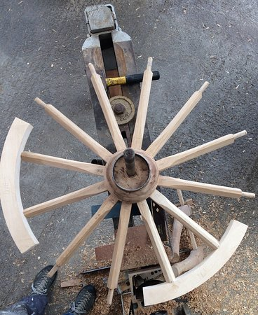 Gayle, UK : Wheel in construction