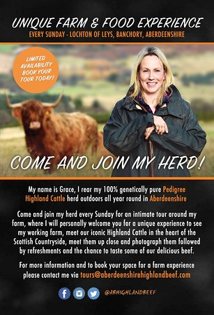 Aberdeenshire, UK: Tour Flyer
