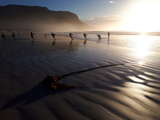 Cape Town, South Africa: Local fishermen at Fish Hoek beach on the Cape Peninsula