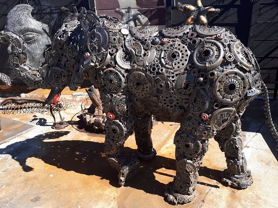 Wild Life At Hout Bay Art Work From Old Car Parts Picture Of