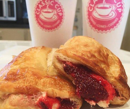 Abbeville, LA: Strawberry Cream Cheese Croissants