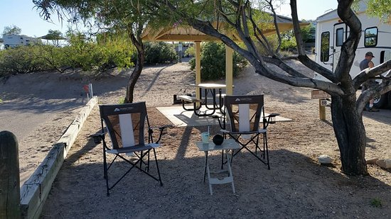 Elephant Butte Lake State Park: campsite