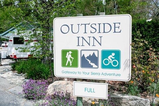 Outside Inn sign