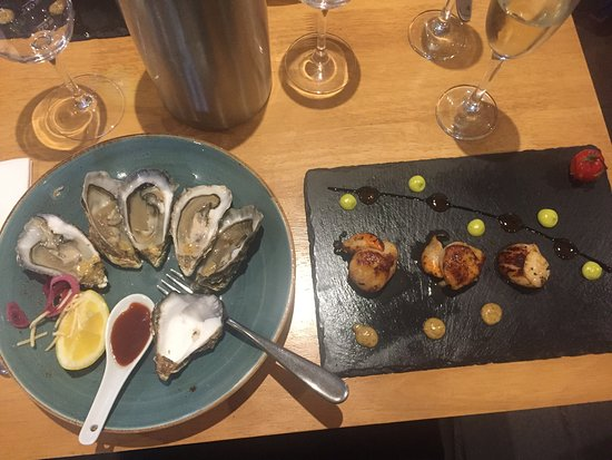 Isle of Gigha, UK: Fresh local Oysters & Scallops
