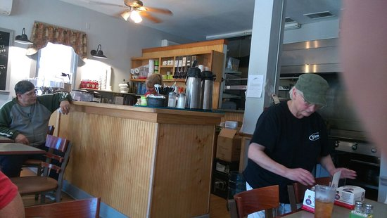 Galena, OH: The inside of the diner
