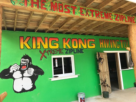 King Kong zip line at Roatan