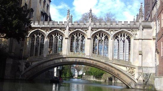 Cambridgeshire, UK: Bridge of Sighs, Cambridge.  Viewed from a punt.
