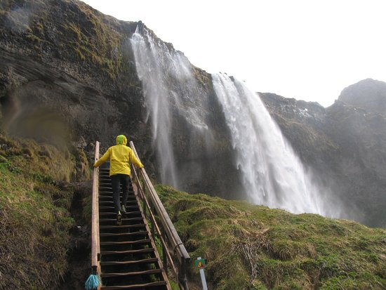 Southern Iceland Glaciers, Waterfalls and Beaches Day Tour: Walk behind the falls