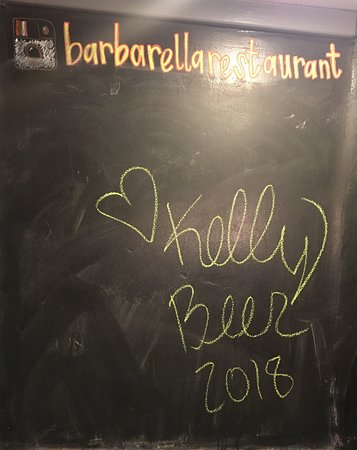 Barbarella Restaurant & Bar : Chalk Boards in the restrooms