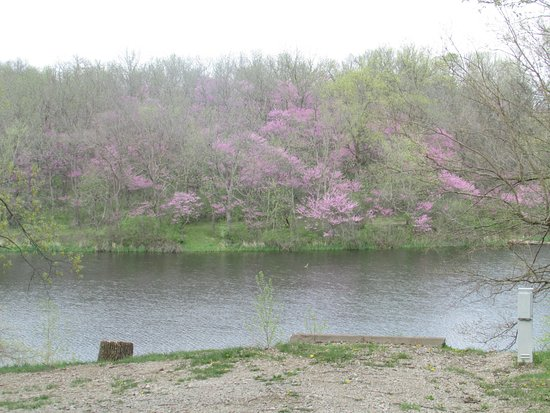 Chariton, IA: Spring view across the lake