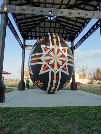 Wilson, KS: That'smy wife standing next to the egg!