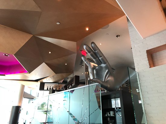 Rasika West End: Part of the modern decor