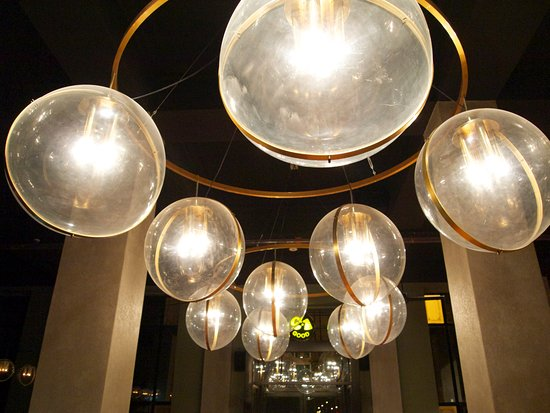 Lights Salvaged From The Great Hall At C1 Espresso