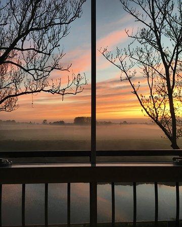 Little Eccleston, UK: Hazy Sunrise from my bedroom window