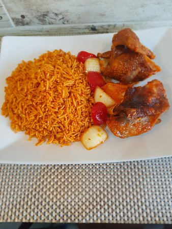 Erith, UK: Yummy jollof rice