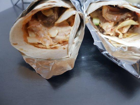 Erith, UK: Nigerian style shawarma