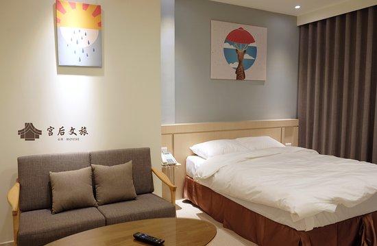 Changhua, Taiwan: 雙人房加大床 有沙發