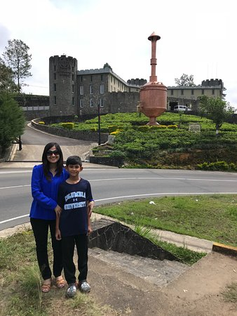 Mlesna Tea Castle: Me and my son