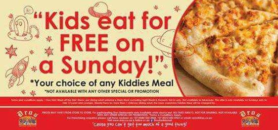 Every Sunday Is Kids Eat Free Sunday T C Apply Picture Of Dros Restaurant And Wine Cellar Umhlanga Rocks Tripadvisor