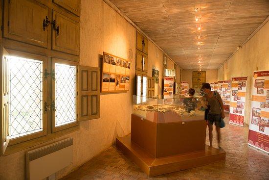 Carennac, ฝรั่งเศส: Grande galerie du château des Doyens et son exposition temporaire