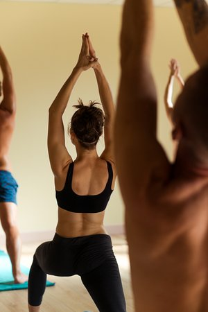 Yoga Zone: Excellent posture in a yoga class