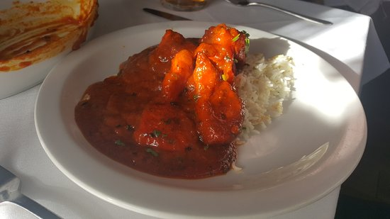 Llanymynech, UK: Curry main course