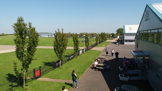 Sywell, UK: View from The Pilot's Mess towards the museum.