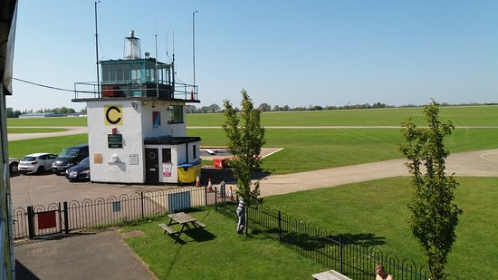 Sywell, UK: View from The Pilot's Mess - Control Tower.