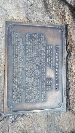 Chimney Rock, North Carolina: Plaque at the top