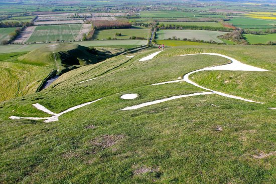 Uffington, UK: View of the horse